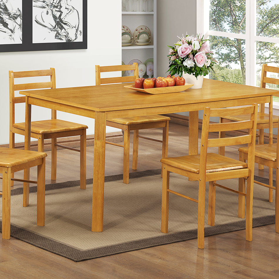 York large dining table 6 person home room tables dining for Dining room table 6 person